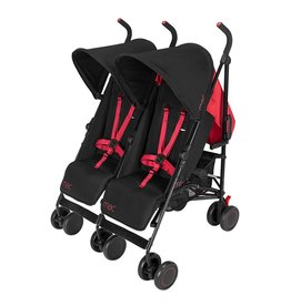 MacLaren Maclaren Mac Twin Black/Redstone