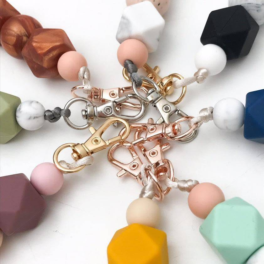 OneChewThree OneChewthree Mini Silicone Key Chain / Nappy Bag Charm