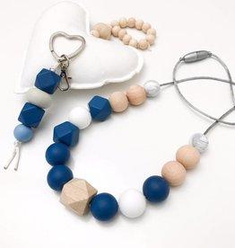 OneChewThree OneChewthree Love Silicone Key Chain / Nappy Bag Charm