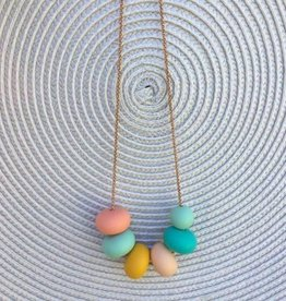 OneChewThree OneChewThree Olivia Silicone on Stainless Chain Necklace