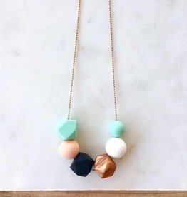 OneChewThree OneChewThree Lexi Silicone on Stainless Chain Necklace