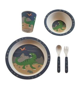 Bobble Art Bobble Art Bamboo Tableware Dinosaur