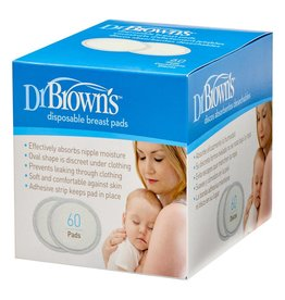 Dr Browns Dr Brown's Oval Breast Pads 60 Pads per Pack