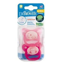 Dr Browns Dr Brown's PreVent Glow in the Dark Pacifier - Stage 2 (2Pack)