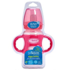 "Dr Browns Dr Brown's 270 ml  Wide-Neck ""Options compatible"" Sippy Bottle w/ Silicone Handles"