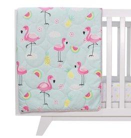 Lolli Living Lolli Living Flamingo All seasons cot quilt