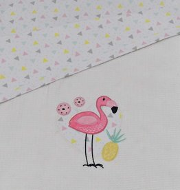 Lolli Living Lolli Living Flamingo Cot waffle blanket
