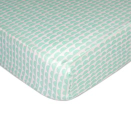 Lolli Living Lolli Living Sparrow Fitted sheet - Mint scallops