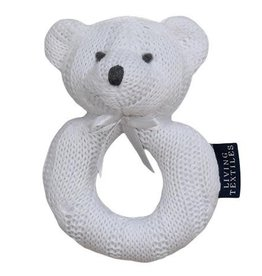 Living Textiles Living Textiles Cable Knit Ring Rattle