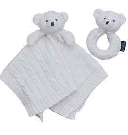 Living Textiles Living Textiles Security Knit Blanket & Rattle Set