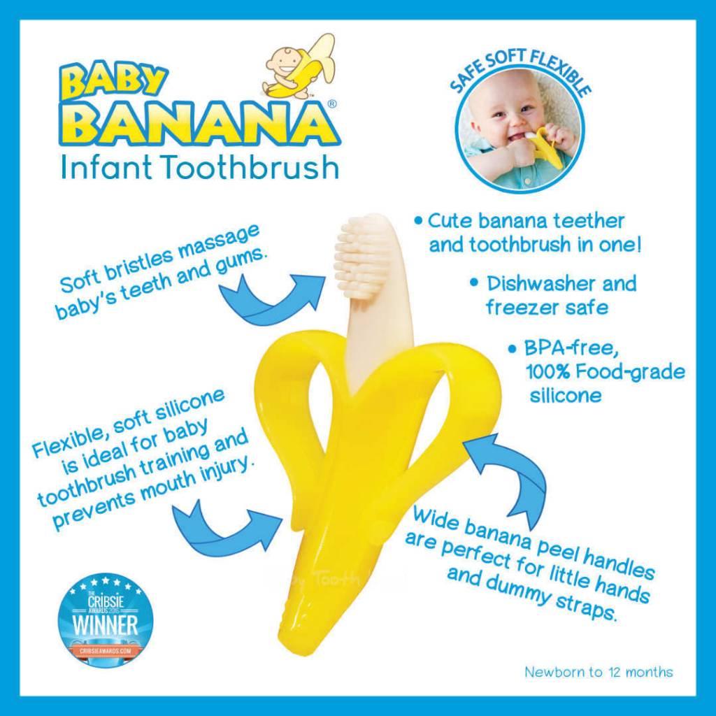 Baby Banana Training Toothbrush for Infants - Yellow