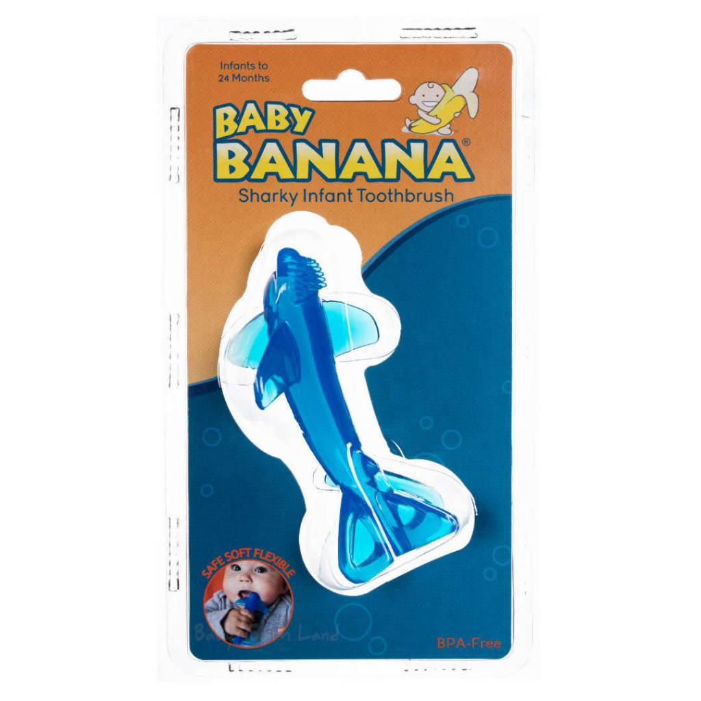 Baby Banana Sharky Teething Toothbrush Infant to 24mths