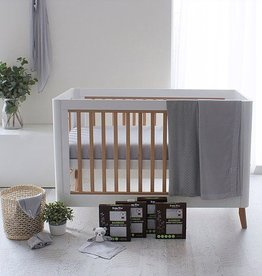 Bubba Blue Bubba Blue Grey Bamboo Bassinet Fitted Sheet