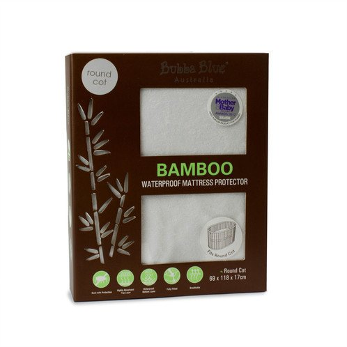 Bubba Blue Bubba Blue Bamboo - Round Cot Mattress Protector
