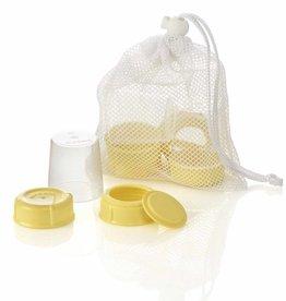 Medela Medela Wide Base Bottle Collar & Lid Set