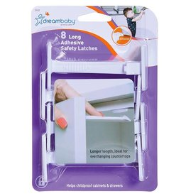 Dreambaby Dreambaby Adhesive Safety Laches - Long 8 Pack
