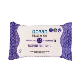 Ocean Healthcare Ocean Healthcare Flushable Wipes 40pk