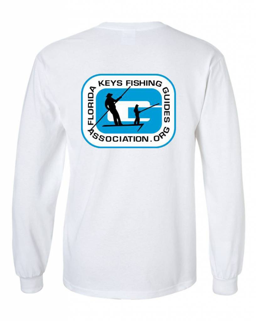 FL Keys Fishing Guides Assoc. L/S Tee Blue