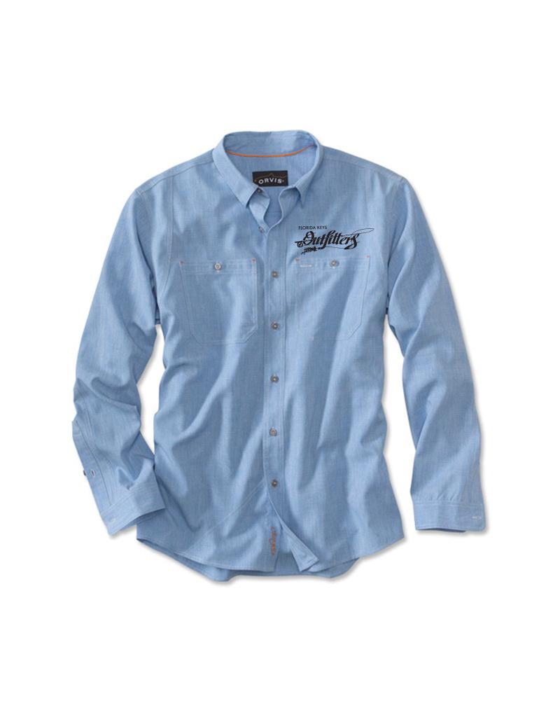 Orvis Men's FKO Logo Chambray L/S Work Shirt