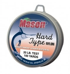 Mason Hard Type Nylon, 100yd spools