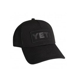 Yeti Hat Black on Black Patch Trucker