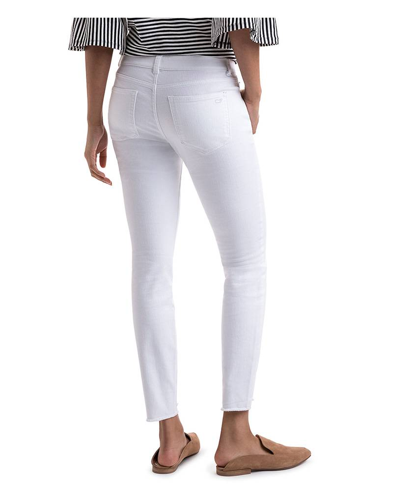 Vineyard Vines Stepped Hem White Denim