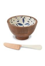 Mudpie Mudpie flower enamel dip bowl set-4854078F