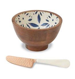 Mudpie Mudpie flower enamel dip bowl set