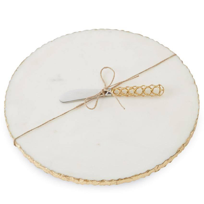Mudpie Mudpie Gold Edge Marble Board Set-4755024