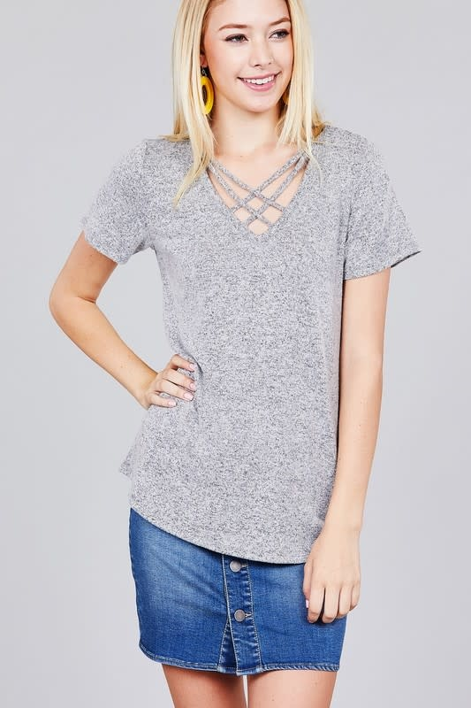 Active Basic AB-T10016 V neck Tee
