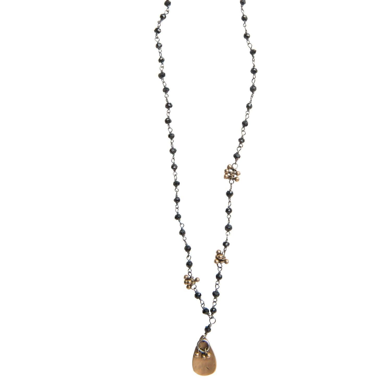 Original Hardware OH-20069 Noir Fringe Necklace