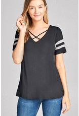 Active Basic AB-T3290 Tee double stripe