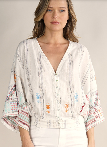 Lovestitch Lovestitch-I-13047 boho top
