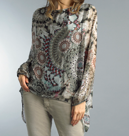 Tempo Paris Tempo-9119 Print silk top