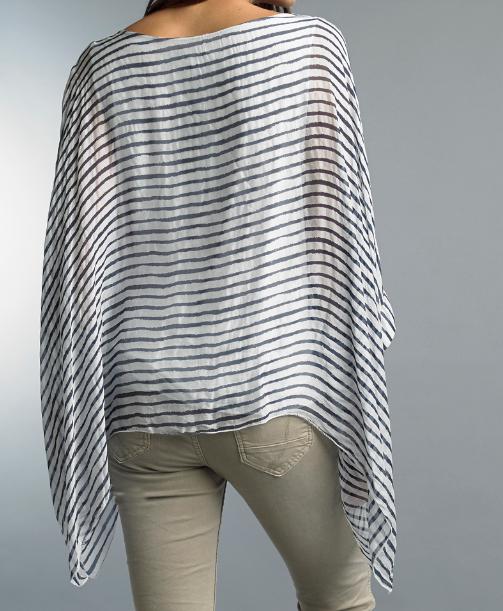 Tempo Paris Tempo-1690 striped poncho