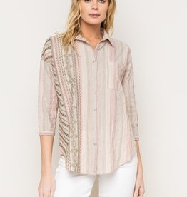 Mystree Mystree-16940 Button Down Shirt