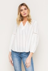 Mystree Mystree-17017 Peasant Blouse