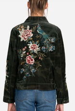 Johnny Was Johnny Was-W49920-8 Elara Velveteen Camo Trucker Jacket