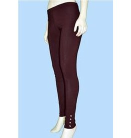 Pretty Woman Legging w/Rhinestone Cuff Plus Brown