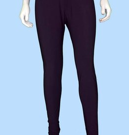 Pretty Woman Solid Long Legging Tappered Ankle Black