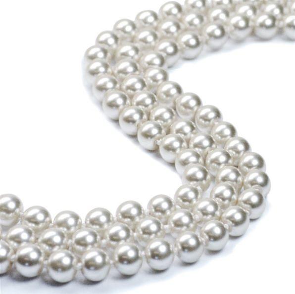Sweet Romance Long Pearls - White