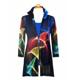 Valentina Signa Chiffon Jacket w/ Shapeable Collar Plus