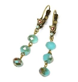 Sweet Romance Crystal Drop Bead Earrings - Several Colors