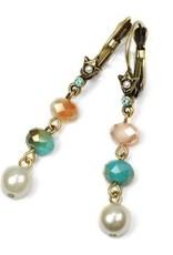 Sweet Romance Crystal Drop Bead Earrings - Several Colors