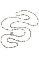 Sweet Romance Marquis Filigree Layering Necklace Silver