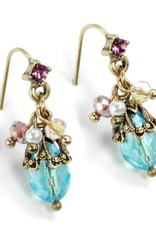 Sweet Romance Ocean Cluster Earrings Aqua