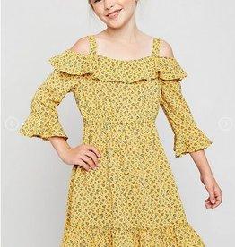 Hayden Los Angeles Ruffled Fit & Flare Midi Dress