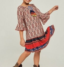 Hayden Los Angeles Printed Bell Sleeve Peasant Dress