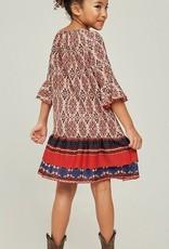 Hayden Los Angeles Printed Bell Sleeve Peasant Dress