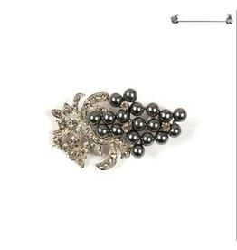Something Special LA Brooch Pin - Gray Pearl